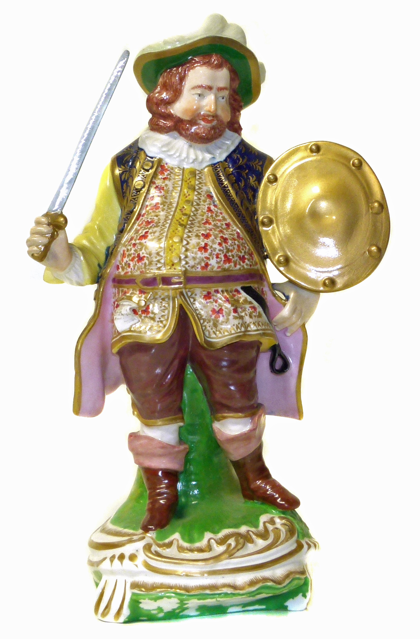 Lot 111 - Derby figure of Falstaff We are unable to do condition reports on our Interiors Sale