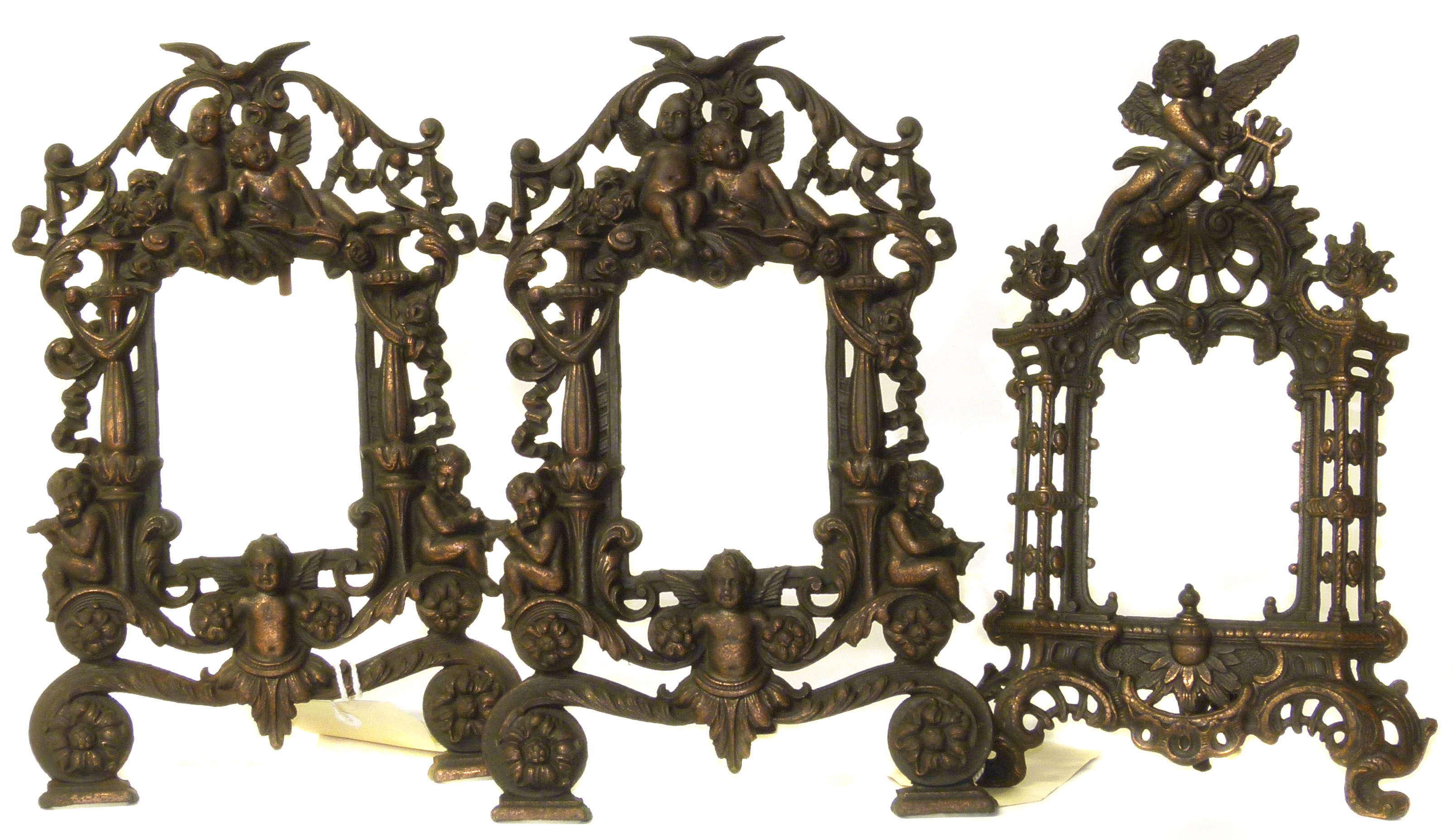 Lot 40 - Three Victorian case iron picture frames. We are unable to do condition reports on our Interiors