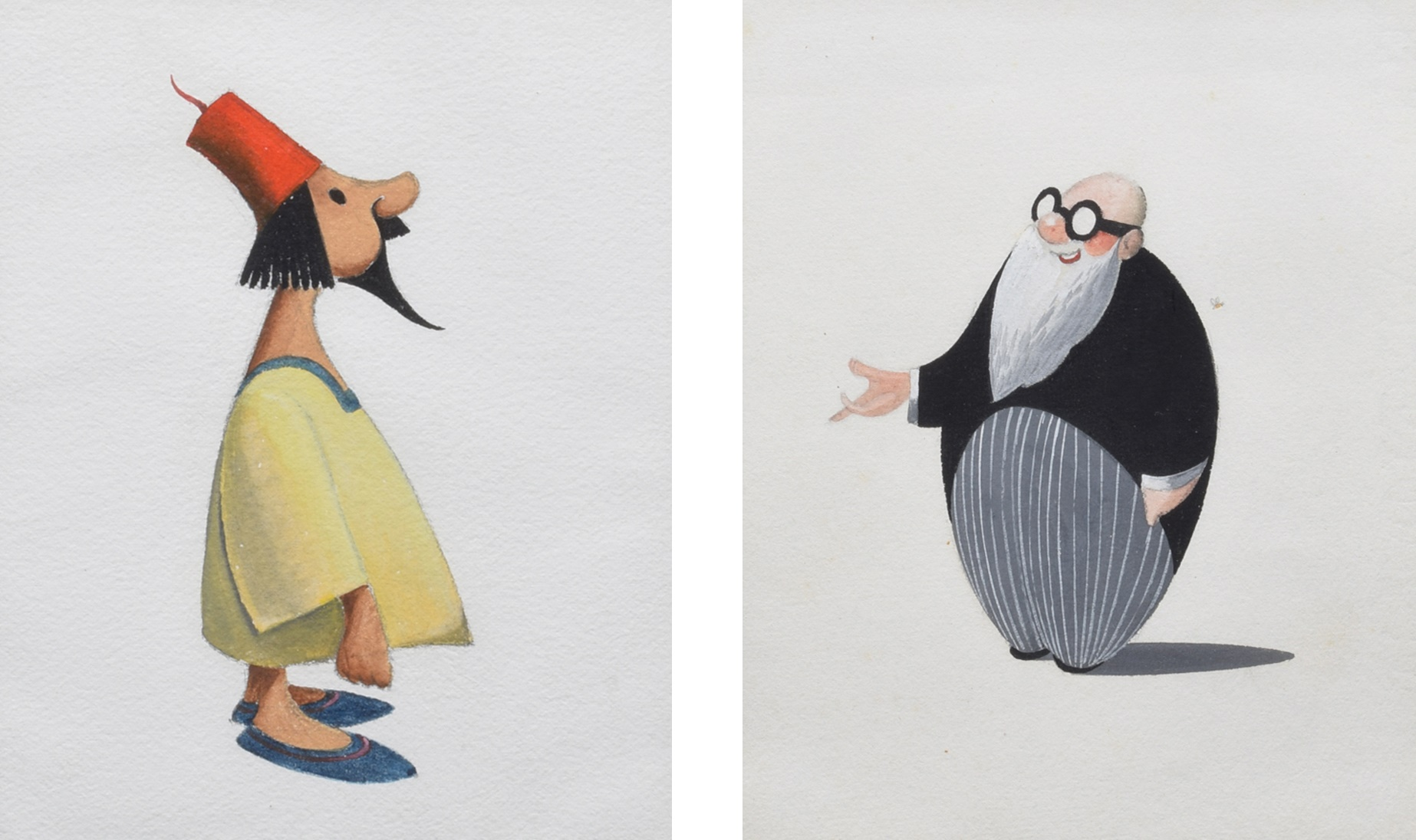 Lot 16 - Francis Coudrill (1914-1989), Figure studies, unsigned, gouache, 16 x 12.5cm, 6.25 x 5in (4). We are