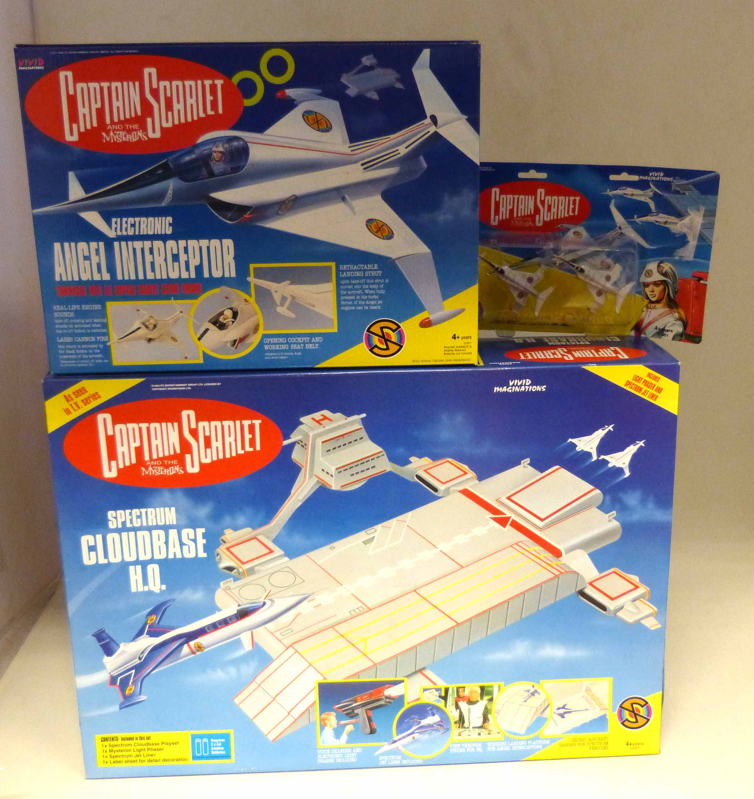 Lot 88 - Boxed Vivid Imaginations Spectrum Cloudbase H.Q, Angel Interceptor (electronic) and two small