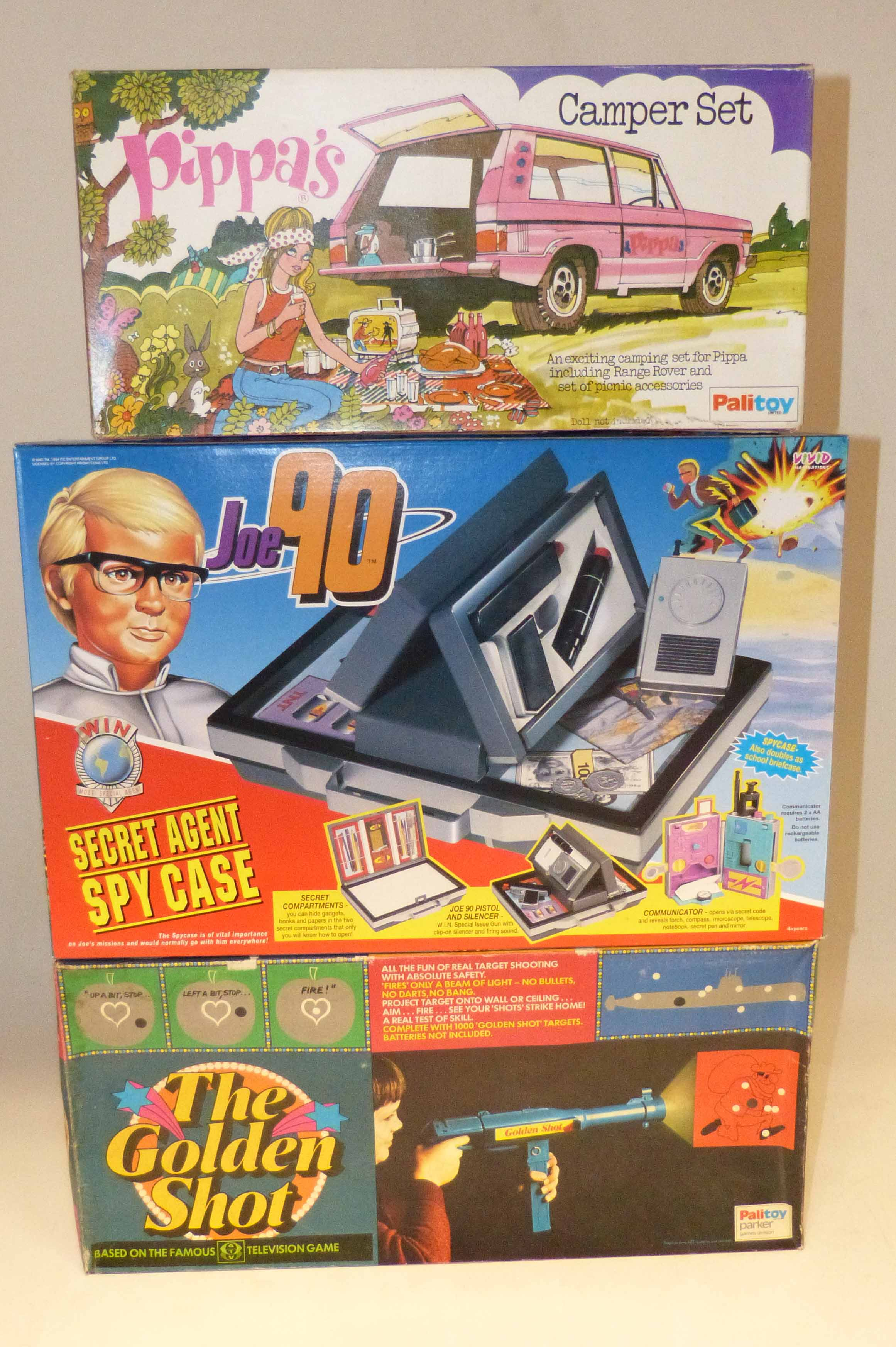 "Lot 87 - Boxed Joe 90 by VND Imaginations and Palitoy ""The Golden Shut"" and ""Pippa's Camper Set"" We are"