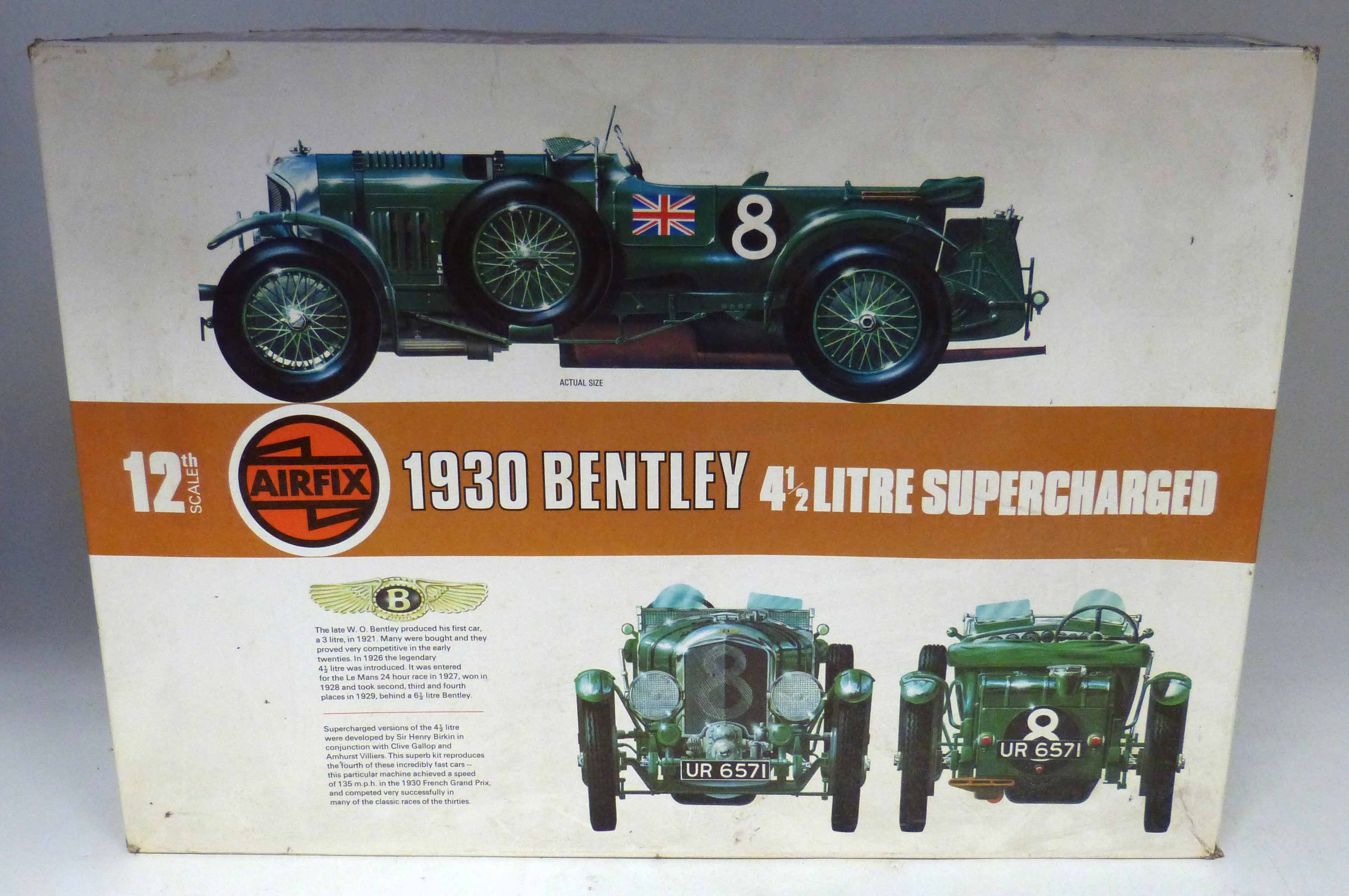 Lot 90 - Boxed Airfix 1930 Bentley, 4 1/2 litre supercharger We are unable to do condition reports on our