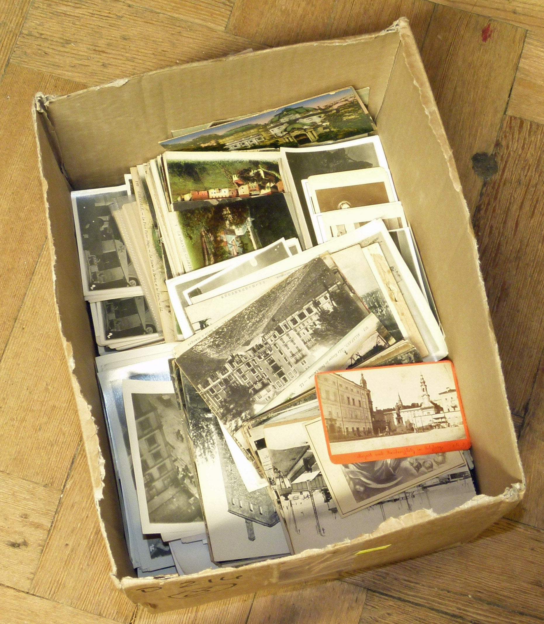 Lot 22 - Box of mixed Postcards and vintage photographs We are unable to do condition reports on our
