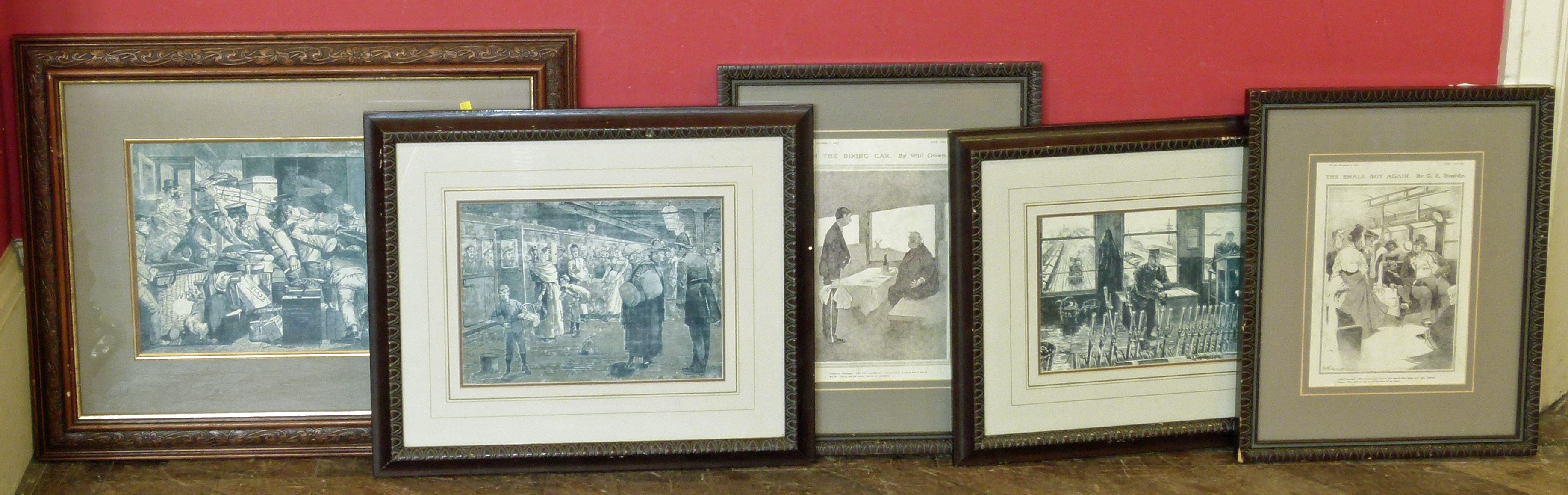 Lot 2 - Framed pages copies from the Tatler and illustrated London news We are unable to do condition