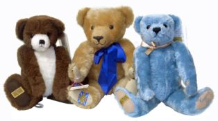 Merrythought 'Tuppeny Blue' bear with certificate and box etc.