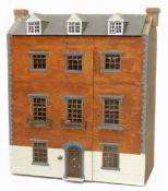 Dolls house, Georgian style four-story townhouse