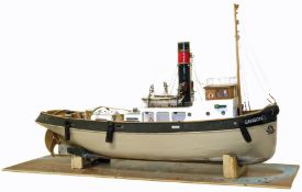 Scale model of a tug boat 'Sanson'.