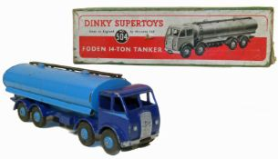 Dinky Supertoys, Foden 14-Ton tanker No. 504 with original box.