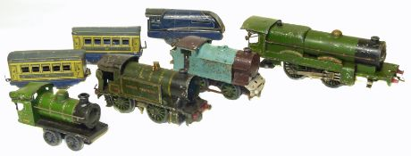 Four Hornby O Gauge tinplate locos and three others
