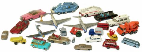 A collection of toys to include