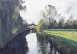 "Nicholas Ferenczy, 20th/21st century ""Small River England #3: Morning Light"""
