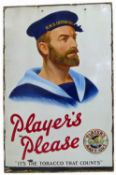 A large 'Players Please' enamelled sign