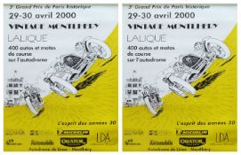 Two Vintage Montlhery 2000 posters.