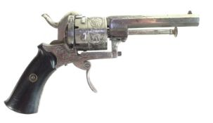 7mm pinfire double action revolver