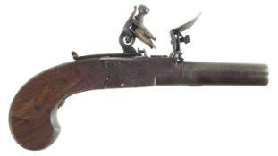 Flintlock pocket pistol by Thomas