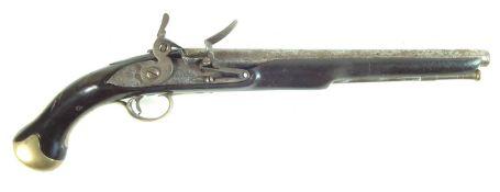 Flintlock sea service type pistol by Brander