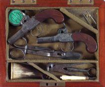 Pair of H. Nock percussion pistols