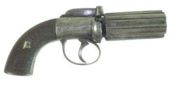 Percussion pepperpot pistol