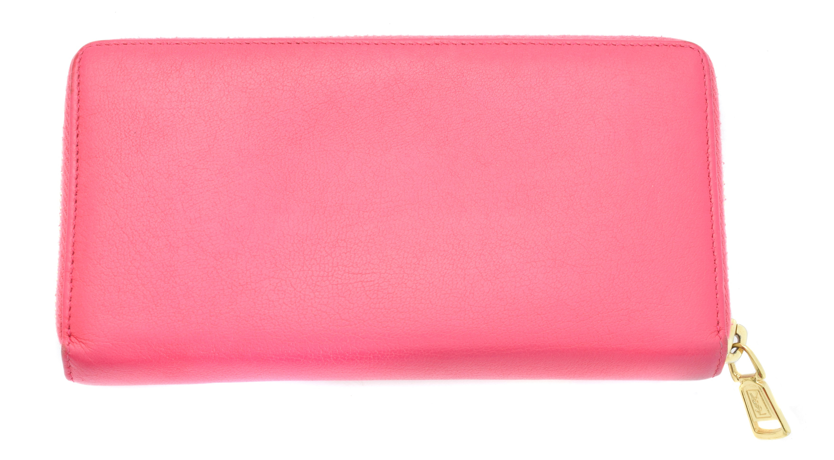 A Yves Saint Laurent zip around logo wallet, - Image 2 of 2