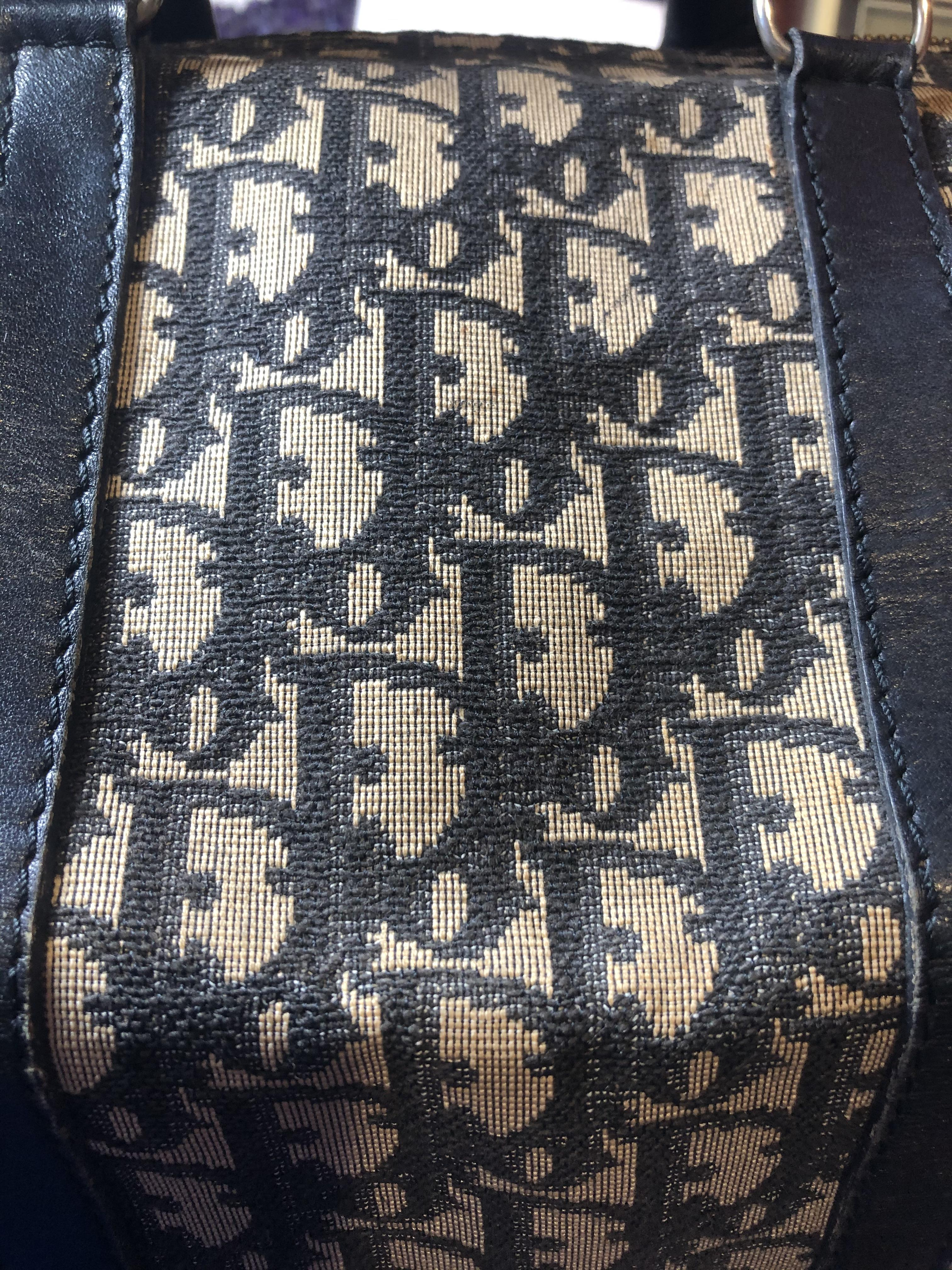 A Dior Vintage Small Boston Handbag, - Image 4 of 5