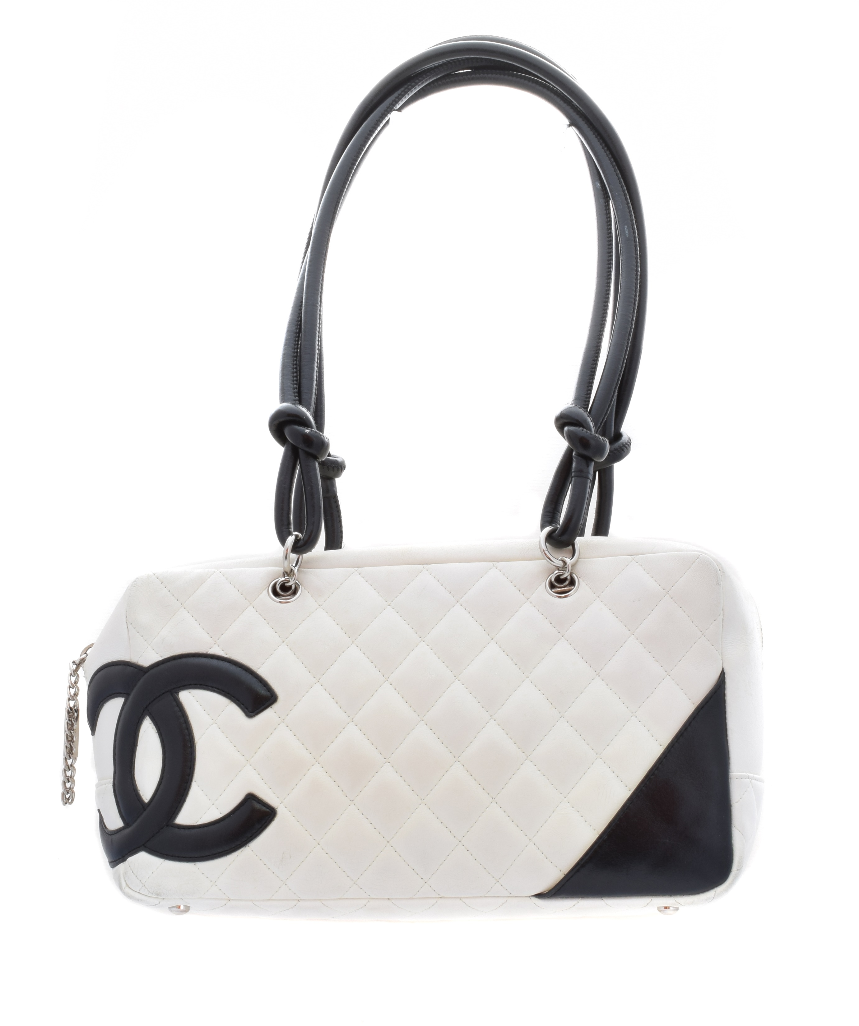A Chanel Cambon Bowling Tote Shoulder Bag,