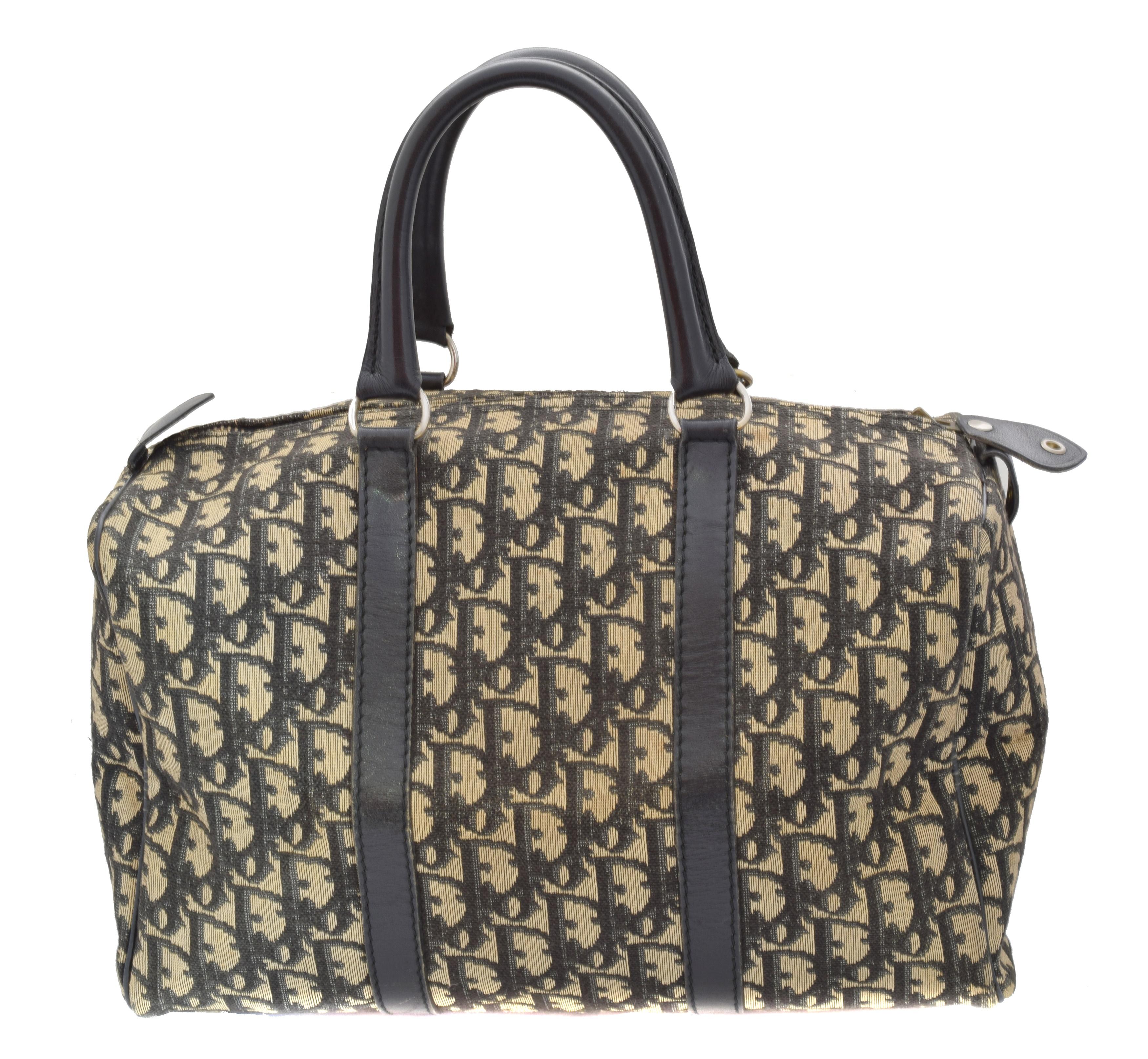 A Dior Vintage Small Boston Handbag,