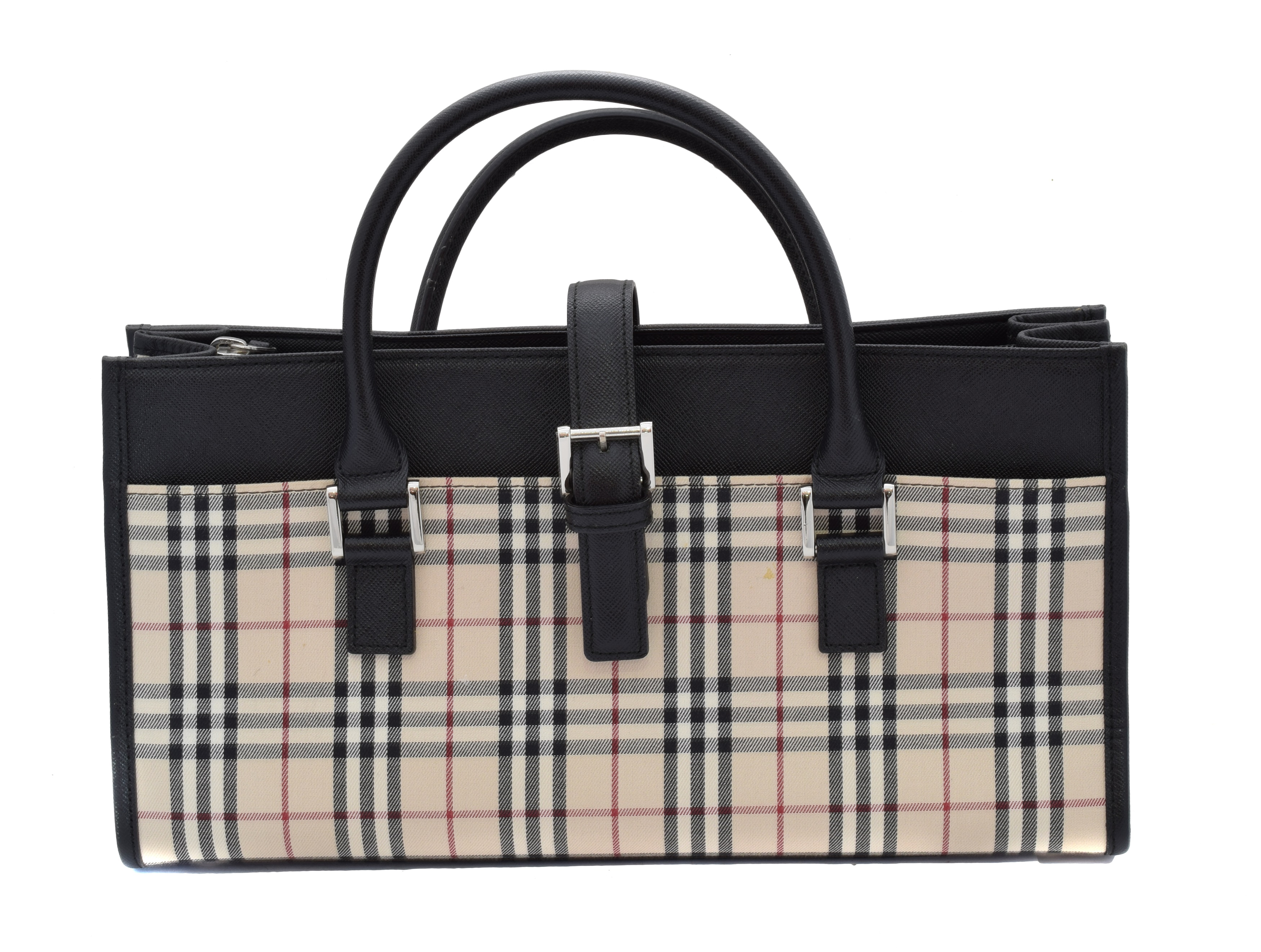 A Burberry Long Tote Shoulder Bag,