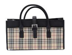 A Burberry Long Tote Shoulder Bag,