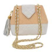 A Chanel Straw Canvas Shoulder Bag,