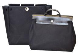 A Hermes 2-in-1 Herbag Cabas MM Handbag,
