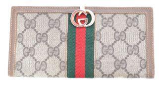A Gucci Web Line Wallet,