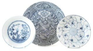 Chinese Binh thuan shipwreck charger and two Teksing dishes