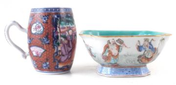 Chinese tankard and a dish