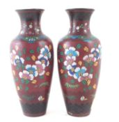 Pair of Cloisonne vases.