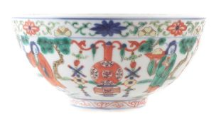 Chinese bowl, 19th century decorated in a Wucai palette