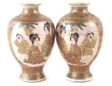 A pair of satsuma vases.