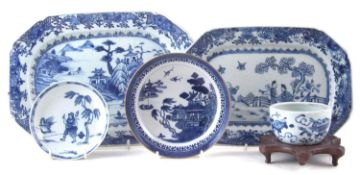 Collection of Chinese blue and white export ware
