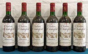 6 Bottles Chateau de Clairefont Margaux 1985