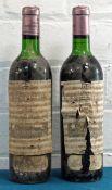 2 Bottles Chateau La Mission Haut Brion Grand Cru Classe Graves (Pessac – Leognan) 1966