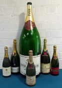 6 bottles including Magnums, bottles and a Nebuchadnezzar