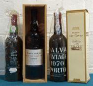 4 bottles Mixed Lot Vintage and Late Bottled Vintage Port