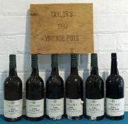 6 Bottles Taylor's Vintage Port 1980