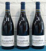 3 Bottles Beaune Premier Cru Clos des Feves 'Monopole' Domaine Chanson
