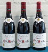 3 Bottles Beaune Premier Cru Clos des Mouches Domaine Joseph Drouhin