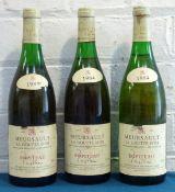 3 Bottles Mixed Lot Meursault Premier Cru 'La Goutte d'Or' Ropiteau