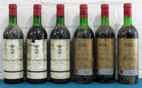 6 Bottles Mixed Lot Mature Left and Right Bank Claret