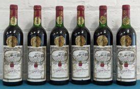 6 Bottles Chateau La Croix Davids Cotes de Bourg 1986
