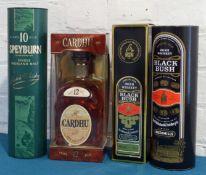 4 x 1 Litre bottles Mixed Lot Fine Malts and Irish Whiskeys