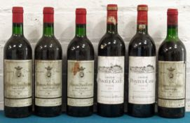 6 Bottles Mixed Lot Mature Claret to include Classified Growth comprising