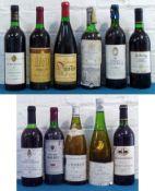 11 Bottles Mixed Lot Mature Worldwide Wines